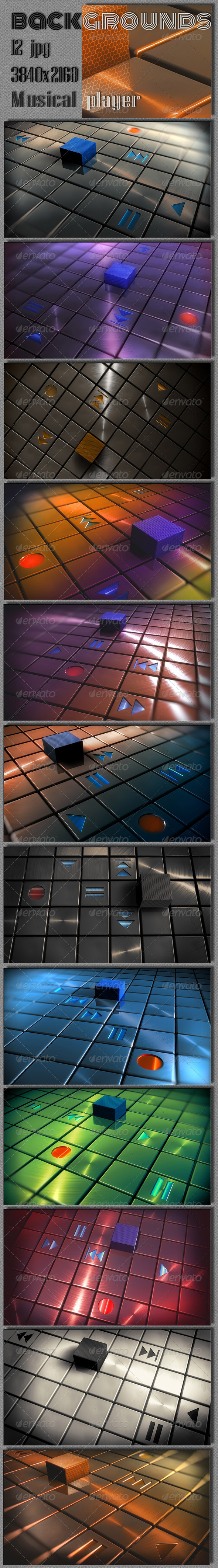 GraphicRiver Abstract Techno Music Player 7779831
