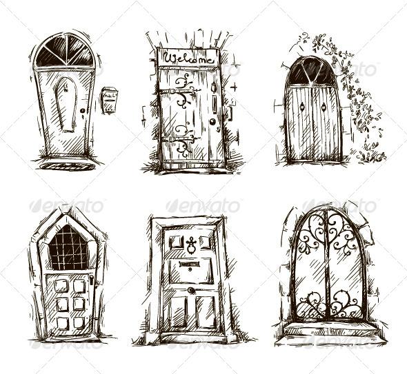 GraphicRiver Door Doodles 7779833