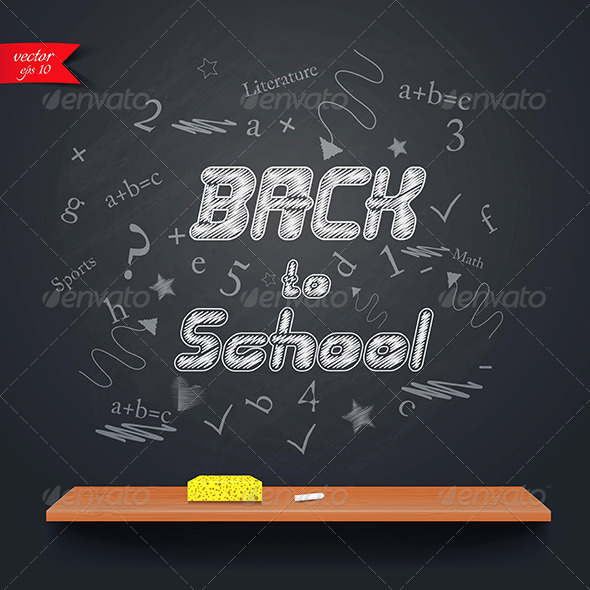 GraphicRiver This is The Back to School Background 7781706