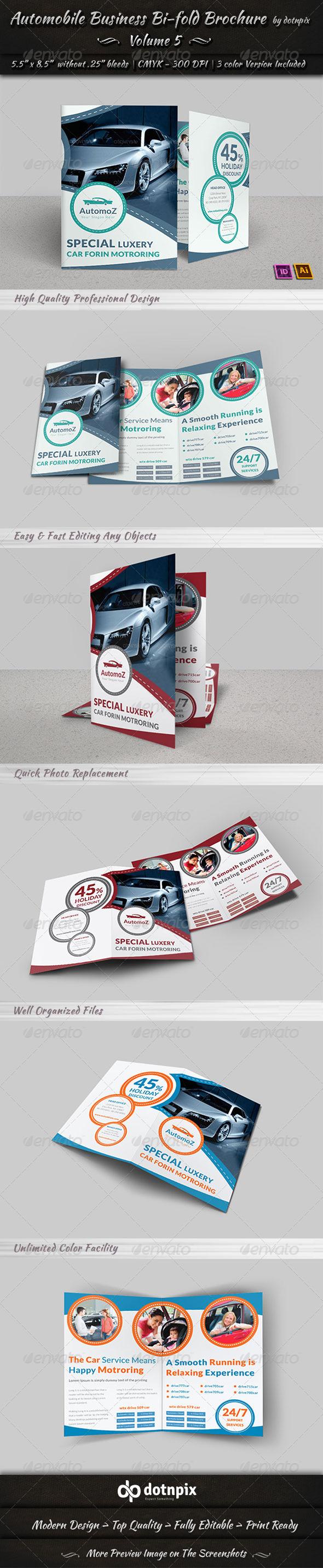 GraphicRiver Automobile Business Bi-Fold Brochure Volume 5 7781727