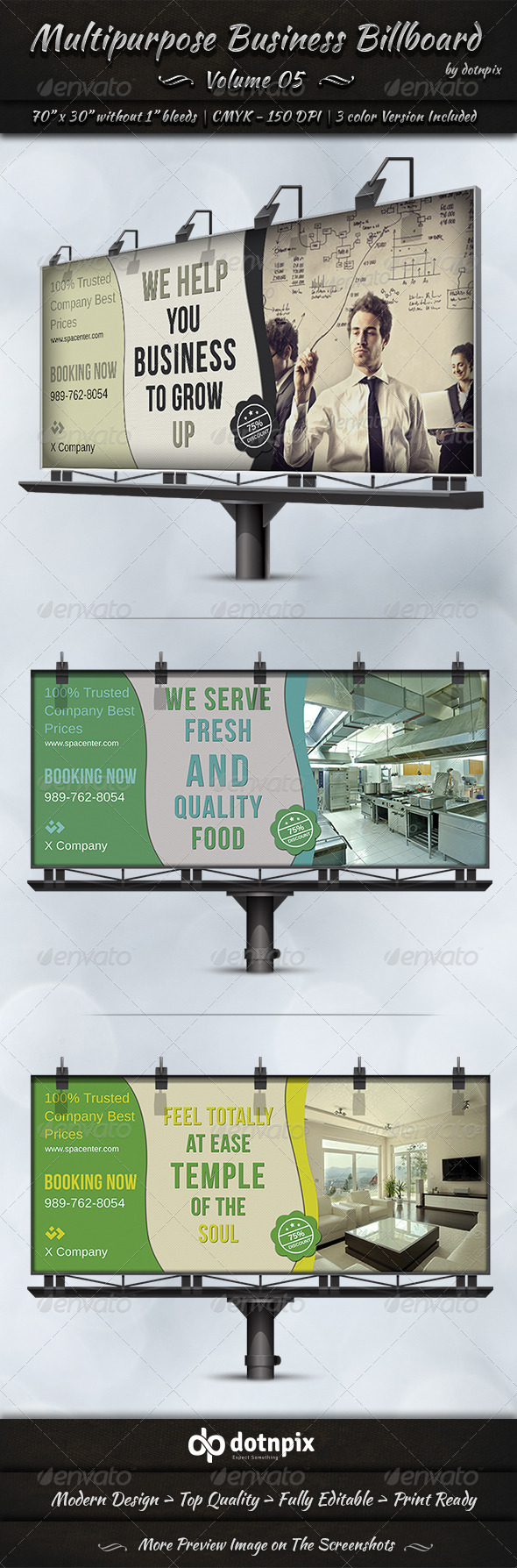 GraphicRiver Multipurpose Business Billboard Volume 5 7782625