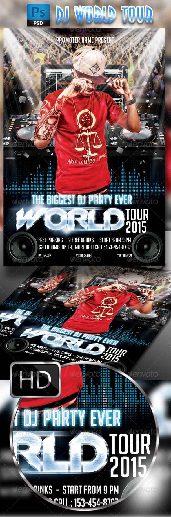 GraphicRiver DJ World Tour 7783552