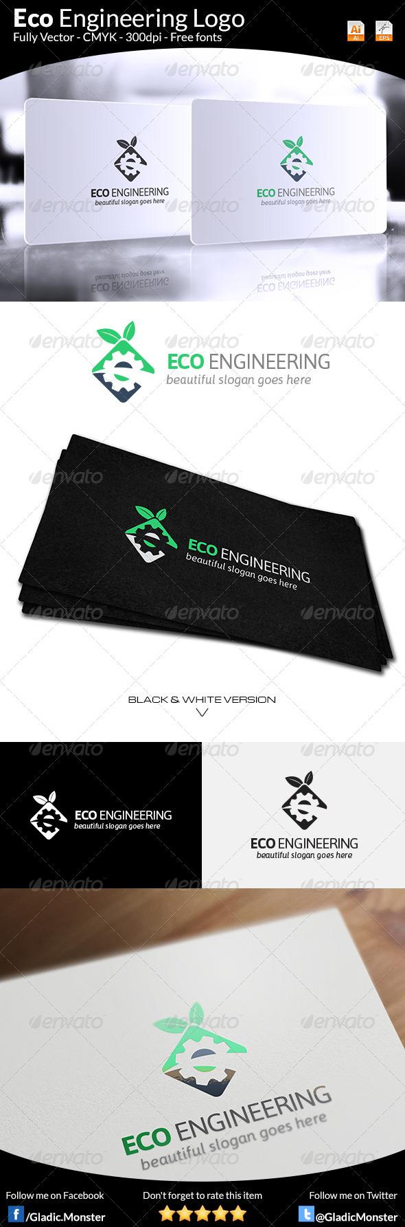 GraphicRiver Eco Engineering Logo 7783831