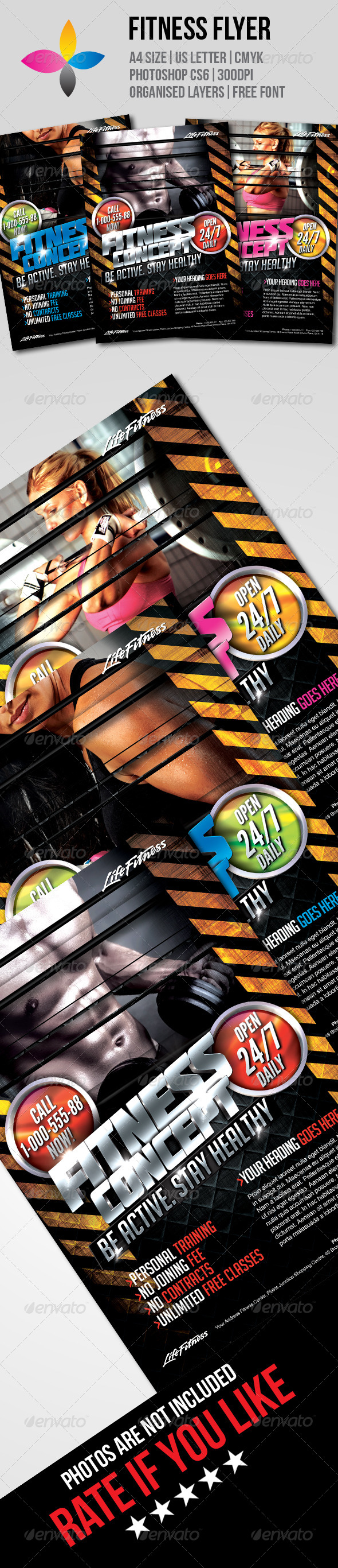 GraphicRiver Fitness Flyer 7785086