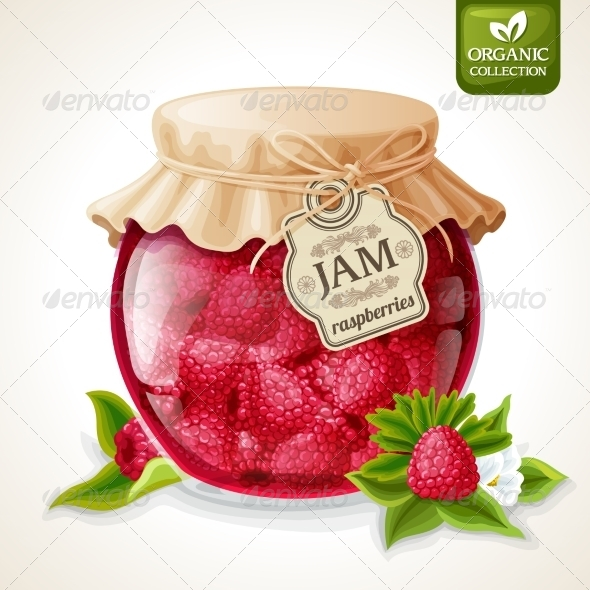 GraphicRiver Raspberry Jam Jar 7785532