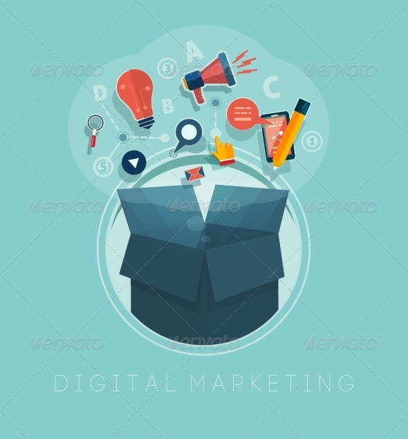 GraphicRiver Digital Marketing Concept 7785545
