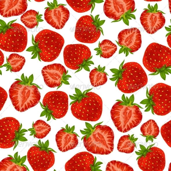 GraphicRiver Strawberry Seamless Pattern 7785609