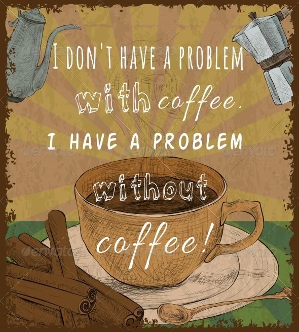 GraphicRiver Retro Coffee Cup Poster 7785616