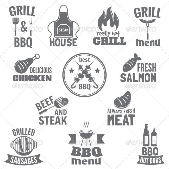 GraphicRiver Bbq Grill Label 7785636