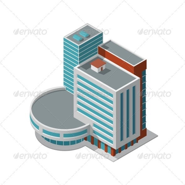 GraphicRiver Office Building Isometric 7785670