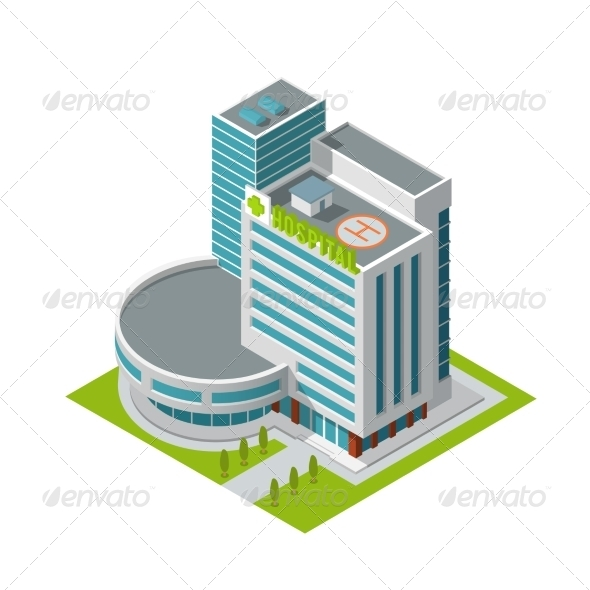 GraphicRiver Hospital Building Isometric 7785672