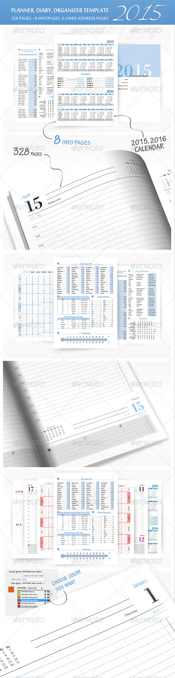 GraphicRiver Planner-Diary-Organizer 2015 7788091