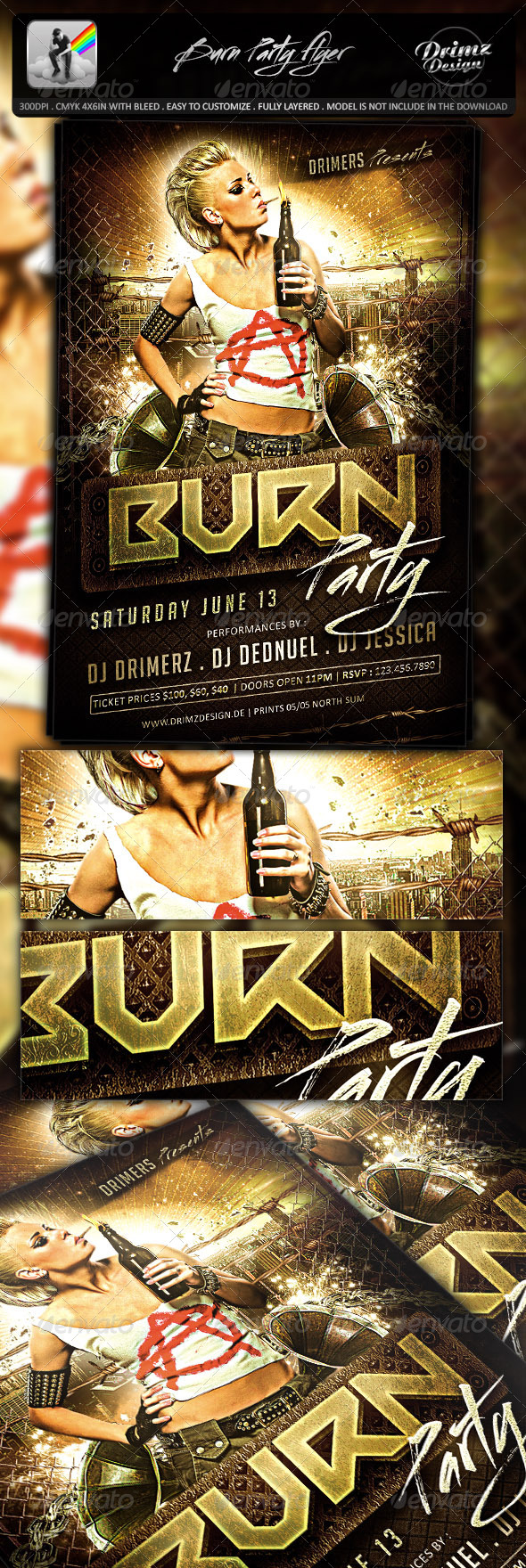 GraphicRiver Burn Party Flyer 7788849