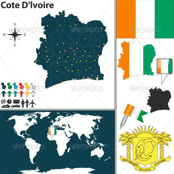 GraphicRiver Map of Ivory Coast 7789184
