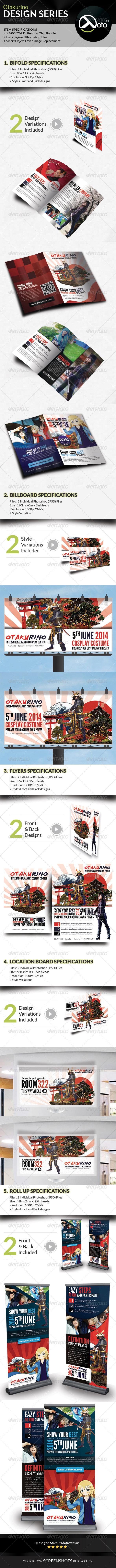 GraphicRiver Otakurino Cosplay Contest Design Series Bundle 7789220