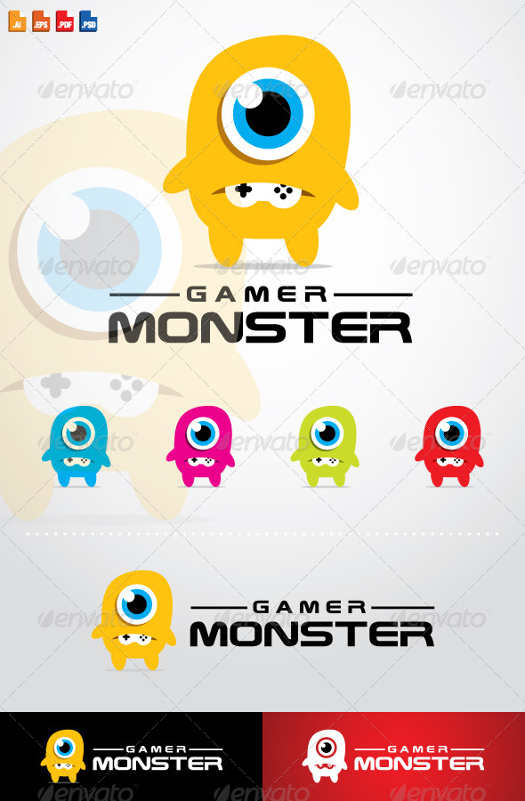 GraphicRiver Gamer Monster Logo 7789223