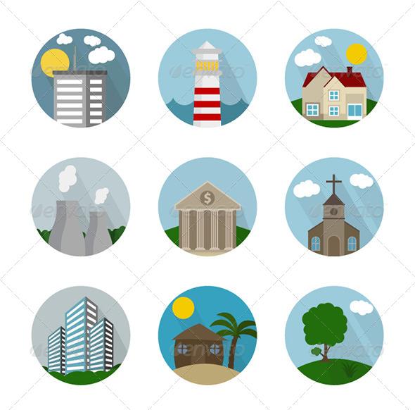 GraphicRiver Icon Flat City 7789250