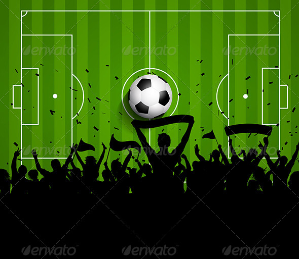 GraphicRiver Sports Crowd on a Football Soccer Pitch Background 7789259