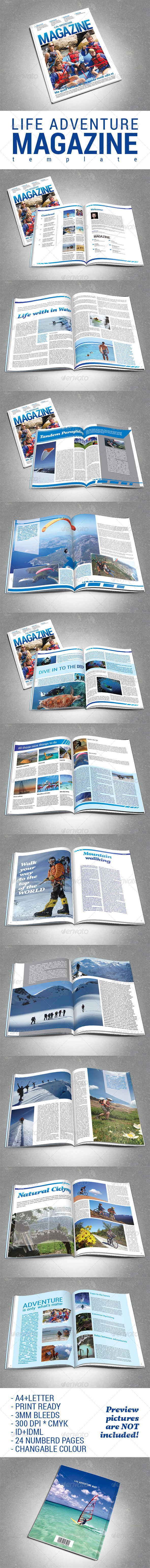 GraphicRiver Adventure Magazine Template 7789959