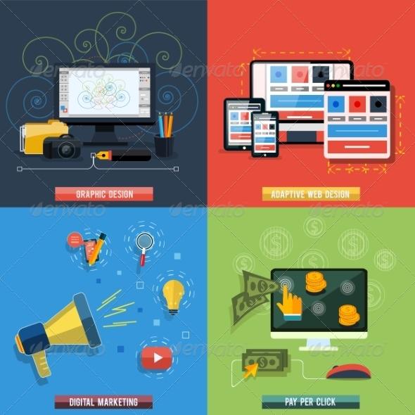 GraphicRiver Web Design Seo Social Media and Pay Per Click 7790007