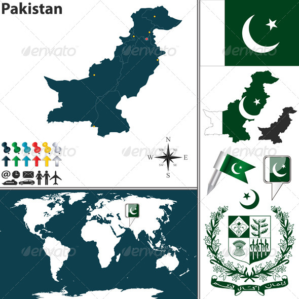 GraphicRiver Map of Pakistan 7791165
