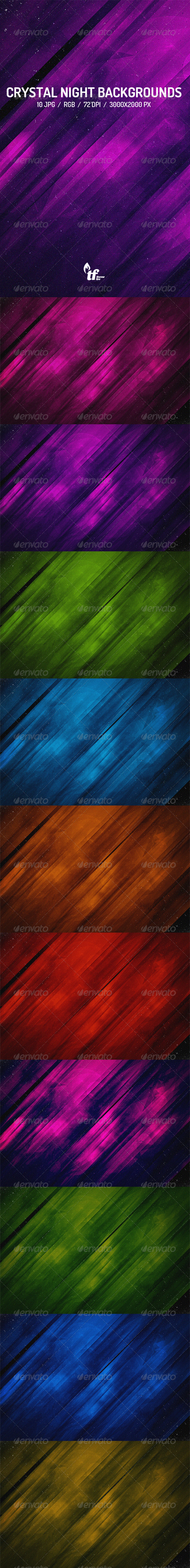 GraphicRiver Crystal Night Backgrounds 7791236
