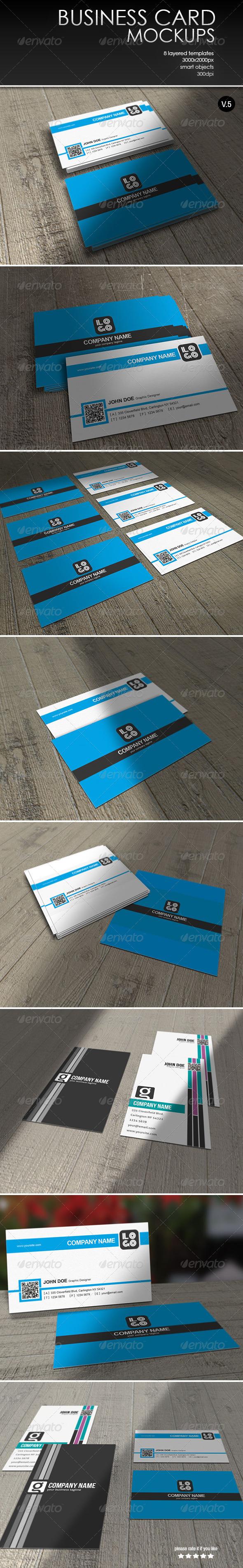GraphicRiver Business Card MockUp-Vol.5 7791582