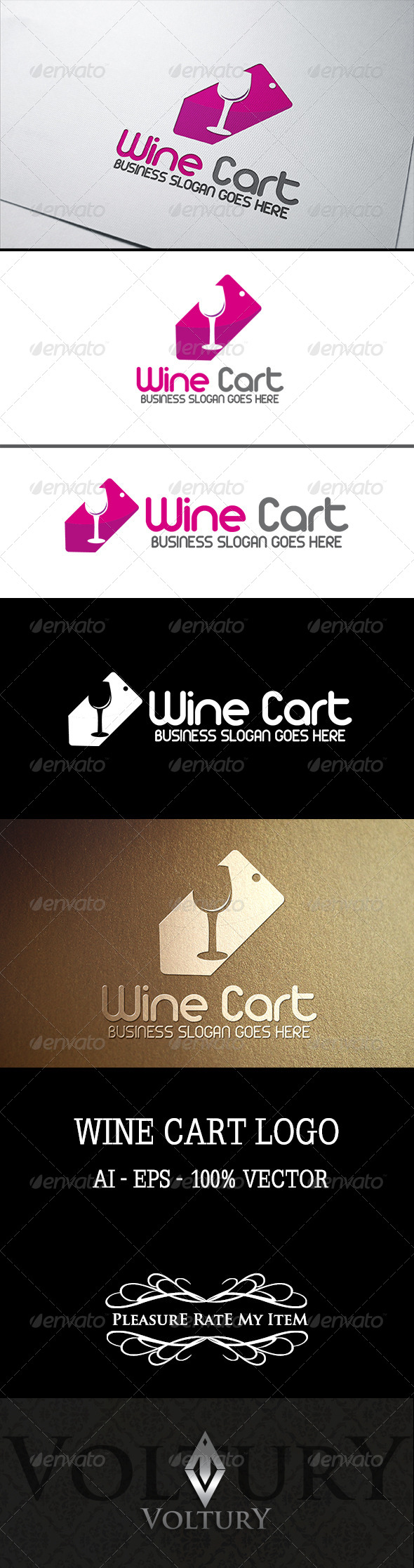 GraphicRiver Wine Cart Logo 7791669