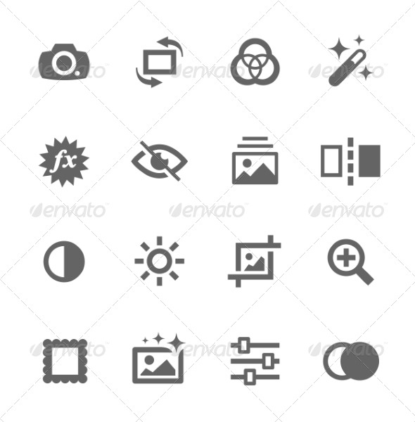 GraphicRiver Image Editing Icons 7791722
