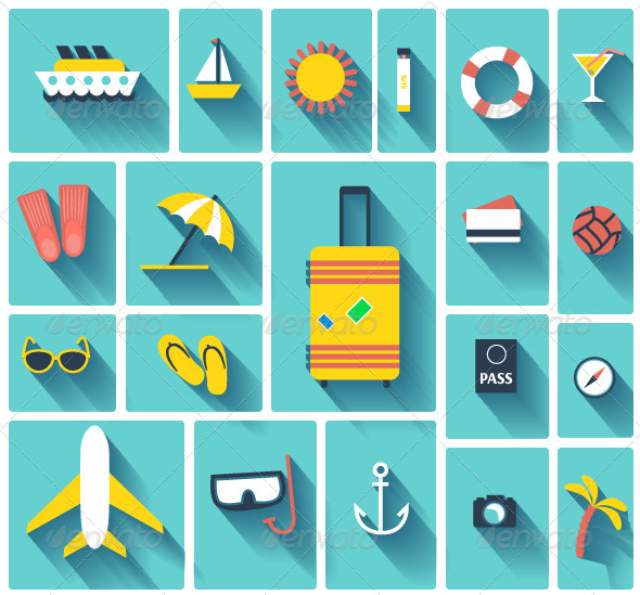 GraphicRiver Travelling Icons Set 7791761