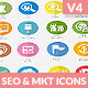 Flat SEO & Marketing Icons Bundle Pack
