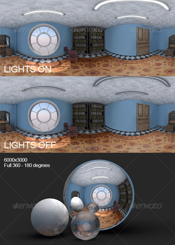3DOcean Lit Unlit Room HDRI 7791785