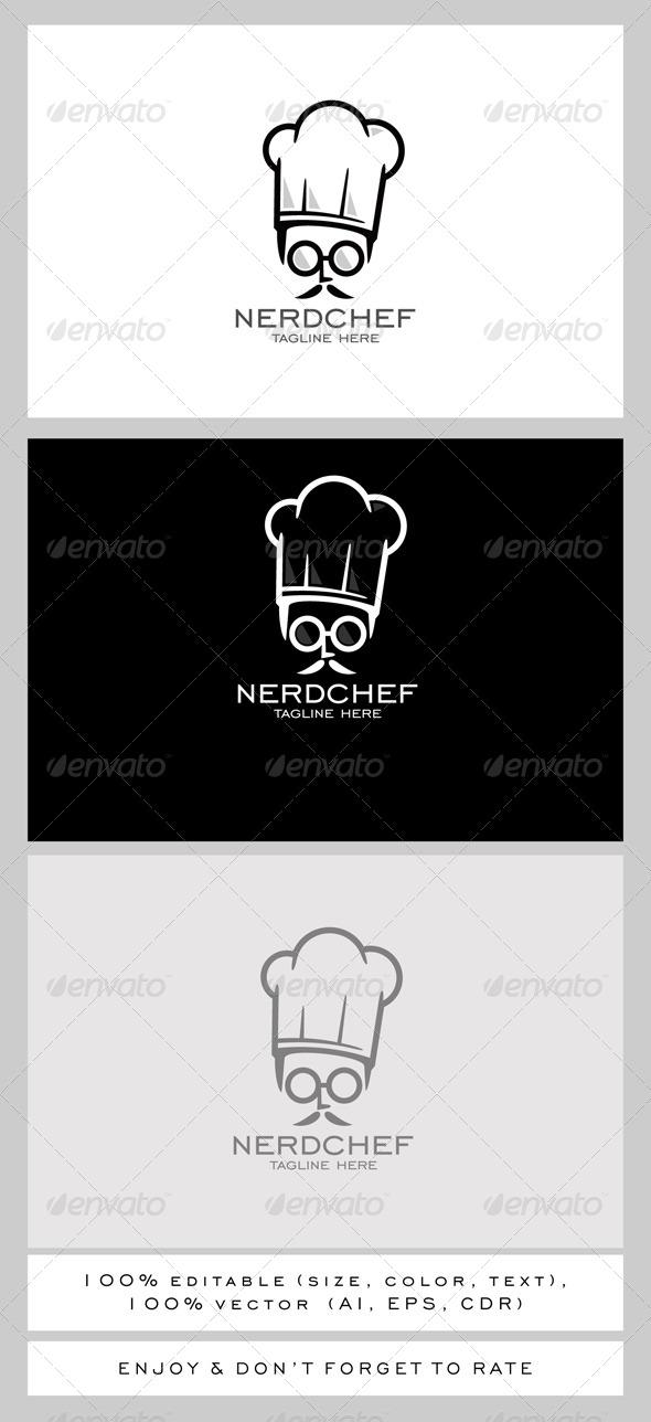 GraphicRiver Nerd Chef Logo 7791814