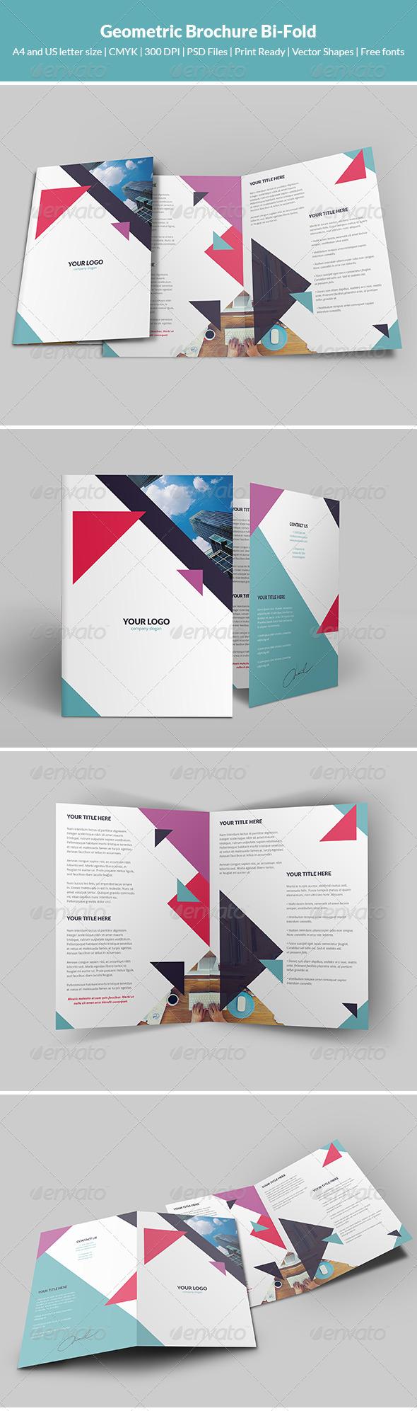 GraphicRiver Geometric Brochure Bi-Fold 7791917