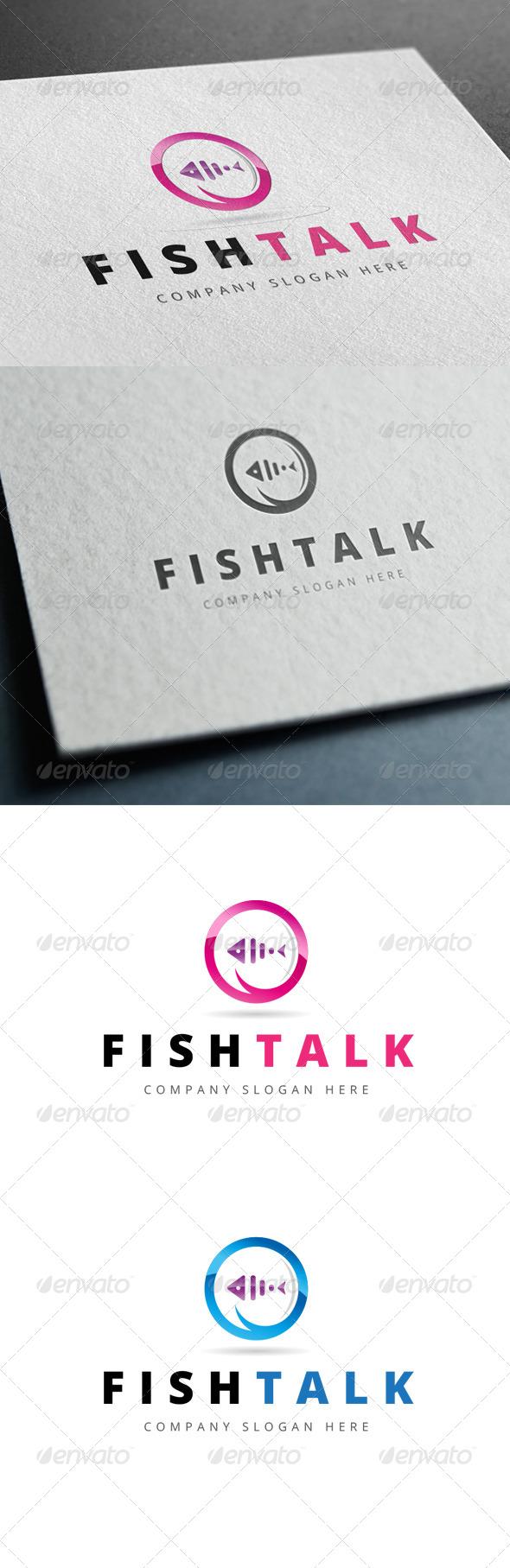 GraphicRiver Fish Talk Logo 7791924
