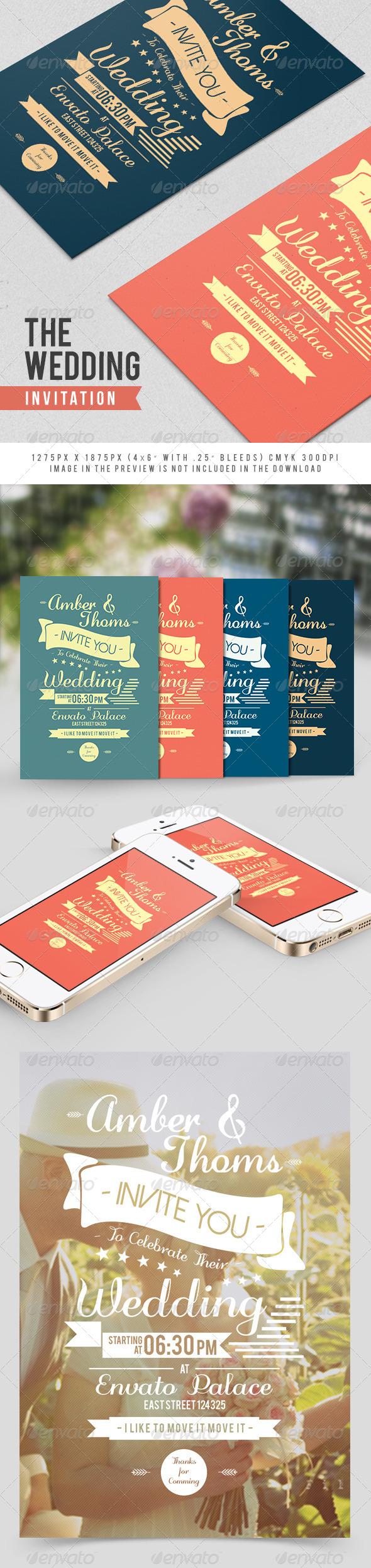 GraphicRiver The Wedding Invitation 7793774