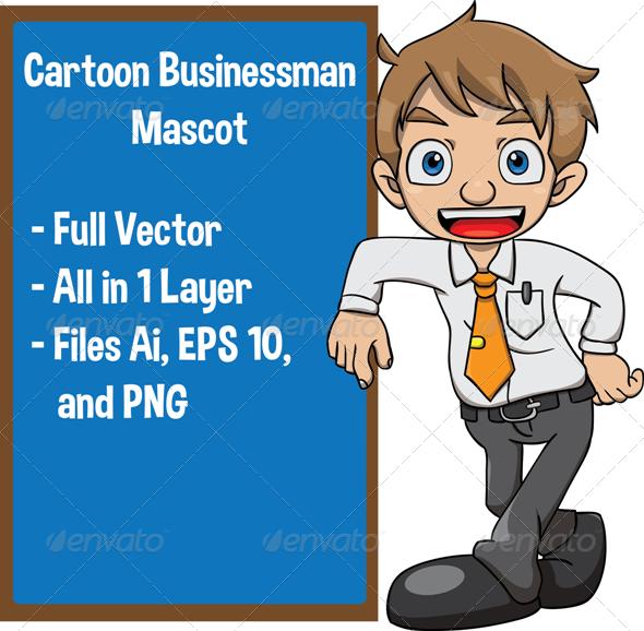 GraphicRiver Cartoon Businessman 7793895