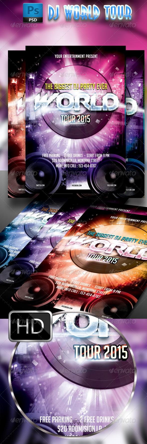 GraphicRiver DJ World Tour 7794338