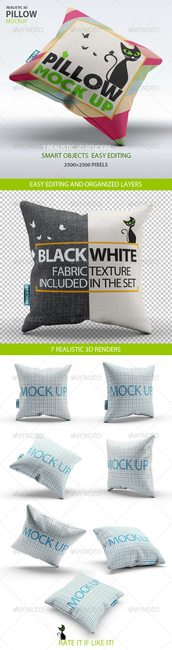 GraphicRiver Pillow Mock-Up 7794640