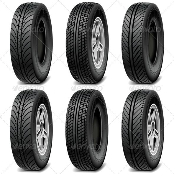 GraphicRiver Car Tires 7795391