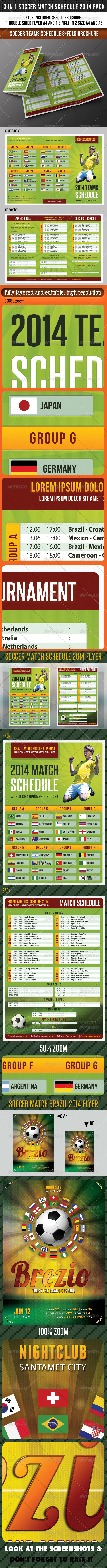 GraphicRiver 3 in 1 Soccer Match Schedule 2014 Pack 7795491