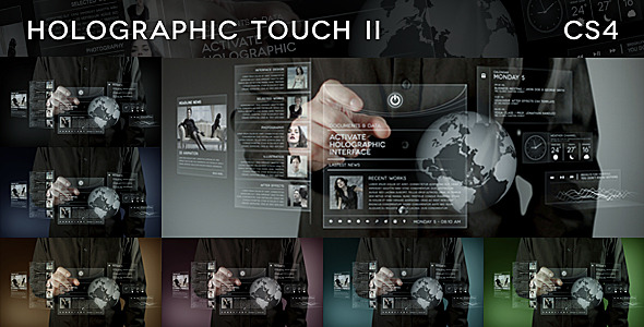 After Effects Project - VideoHive Holographic Touch II 796536