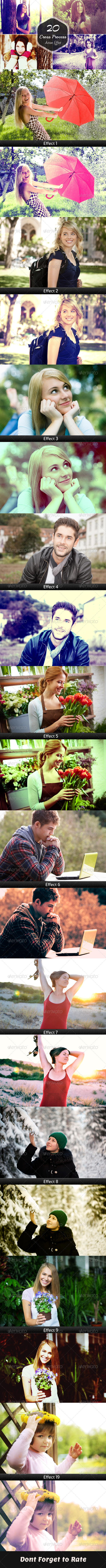 GraphicRiver 20 Cross Process Photoshop Actions 7795688