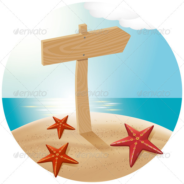 GraphicRiver Guidepost At The Sea Beach 7795998
