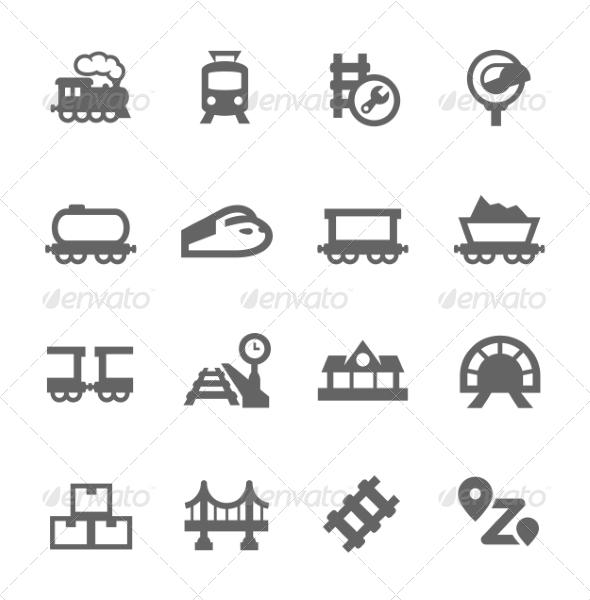 GraphicRiver Trains Icons 7796381