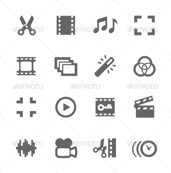 GraphicRiver Video Editing Icons 7796421