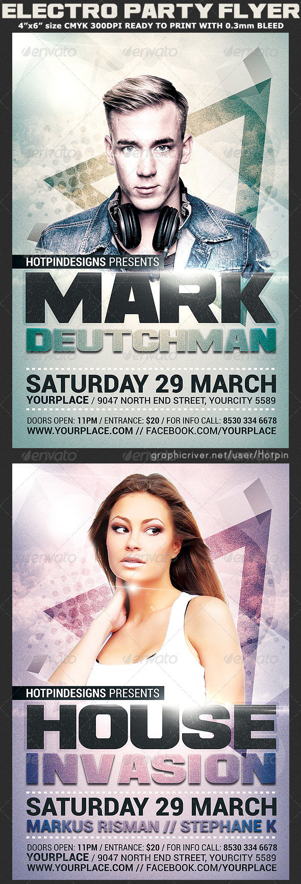 GraphicRiver Guest Dj Event Party Flyer Template 7796834