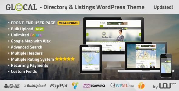 GLOCAL - Directory & Listings WordPress Theme - Directory & Listings Corporate