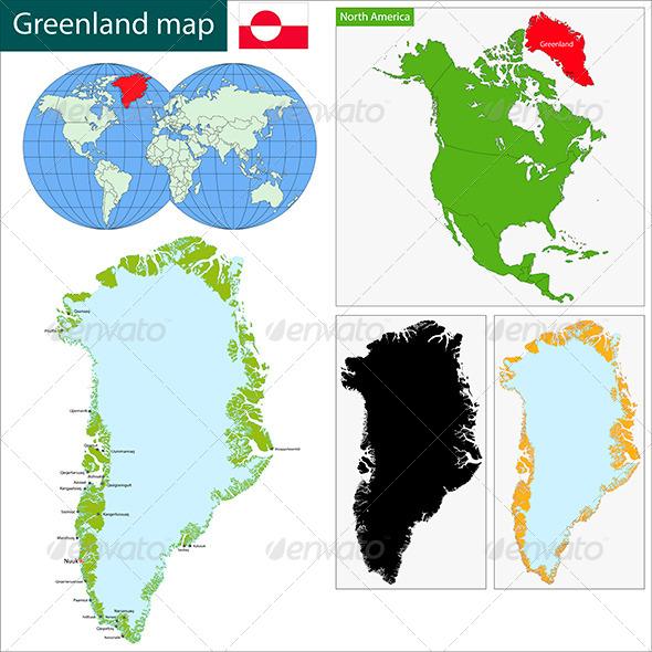 GraphicRiver Greenland Map 7798346