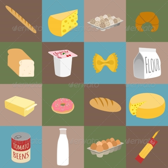 GraphicRiver Food Flat Icons 7799271